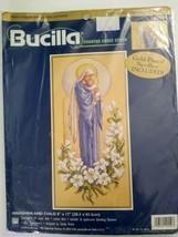 1999 Bucilla Madonna And Child Counted Cross Stitch 42559 Designed Sandy Orton - $39.60