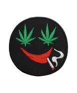 """High Times Weed Face Emoji Marijuana Embroidered Iron On Patch 3"""" Cannab... - $6.97"""