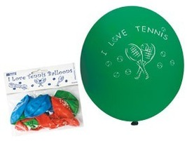 """12"""" I Love Tennis Ballon Pack 2-pack - $11.99"""