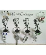 Tennis Wine Charm with Black Pouch - $10.99