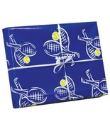Tennis Crossed Racquet Wrapping Paper 4pc - $12.99