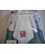 Roses & Ribbons Cross Stitch Table Topper Kit - $20.00