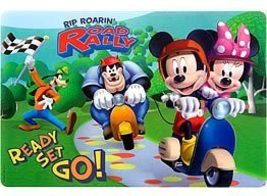 Mickey Mouse Plastic Placemat Set Of 4 - $12.95