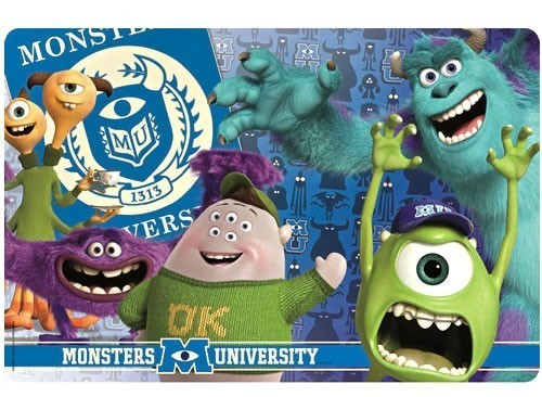 MONSTERS, INC. PLACEMAT-PLACEMAT A SET OF 4 PLACEMATS-ALL OF THE SAME STYLE - $12.95