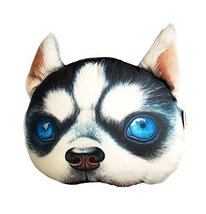George Jimmy 3D Cartoon Head Shape Pillow Car Sofa Chair Back Cushion-Dog - $423,56 MXN
