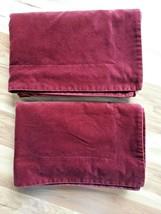 """Pair of Pottery Barn Burgundy Velvet Standard 20"""" x 26"""" Pillow Shams w/ ... - $45.49"""