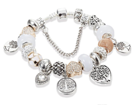 Tree of Love & Life 22 Charm Bracelet, Pandora Set - Box Included - $19.99
