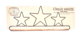 Classic Motifs Three Stars 16 Inch Fabric Holder With Dowel - $17.96