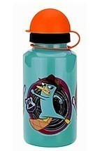 Phineas & Ferb 12- Oz Water Bottle. A Set Of Four! - $12.95