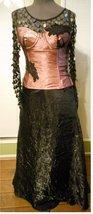 Formal prom skirt sequin top corset mauve dress Steampunk Victorian Goth... - $135.00