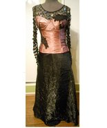 Formal prom skirt sequin top corset mauve dress Steampunk Victorian Gothic OOAK - $135.00