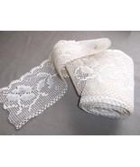 6.3 Yards Antique Lace Trim 4' Width For Pillow... - $12.00