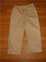 Sz 6 Faded Glory Capri Pants  cotton blend - $7.99