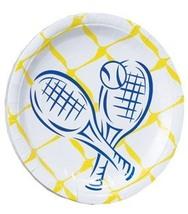 Tennis Crossed Racquet Salad/Dessert Paper Plate 40pc - $14.99