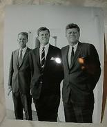 1963 Jack John Fitzgerald Bobby Robert Ted Edward Kennedy JFK RFK EMK 8x... - $10.00