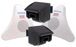 2 x Solar PIR with 2 x Wireless Receiver Driveway Alarm Kit (DA600-T) - $181.30