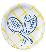 Tennis Crossed Racquet Dinner Paper Plate 40pc - $19.99
