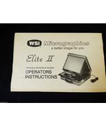 Micrographics Elite II portable Micropfilm Reader Operators Instructions... - $15.84