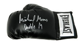"Michael Moorer Signed Everlast Black Boxing Glove w/ ""Double M"" - $80.00"