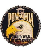 United States P O W  M I A  Thier War Is Not Over Patch NEW!!! - $9.89