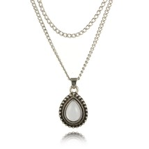 New Glamour Turkish Style Alloy Electroplated Water Drop Necklace Geometric Mult - $8.08