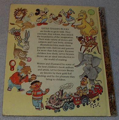 Big Bird's Red Book Sesame Sreet Vintage 1977 Little Golden Book