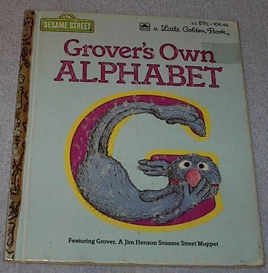 Grover's Own Alphabet Sesame Street Vintage 1978 Little Golden Book