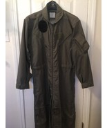 Vintage Men Air Force Fire Resistant Aramid Green Flyers Coverall USAF 42R - $46.39