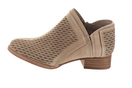 Vince Camuto Perforated Suede Booties Clorieea Taupe 10M NEW A310635 - $88.09