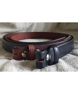 """Handmade Amish Leather Belt for Men or Women 1 1/4"""" width and NO Buckle - $36.00"""