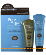 Pure Argan Oil Natural Facial Tone Up Peeling Gel & Cleansing Foam Set - $27.99