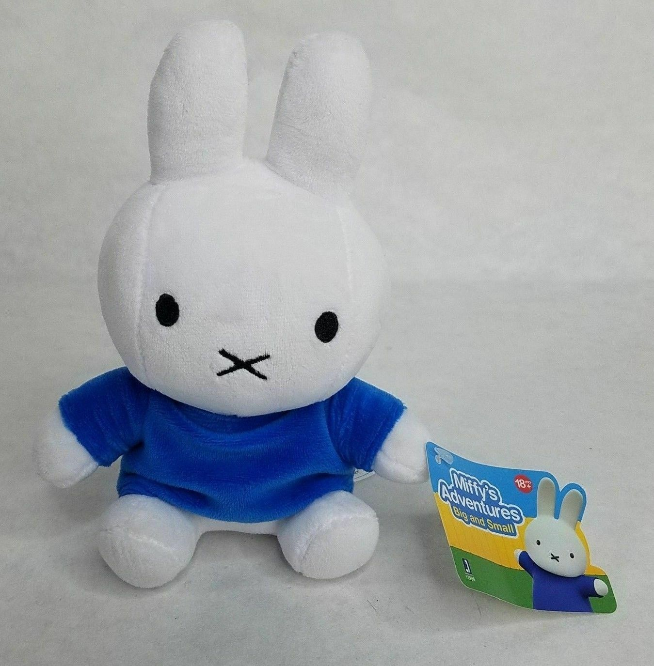 "Primary image for Miffy's Adventures Big and Small Miffy Plush 6"" Brand New nwt rare white rabbit"