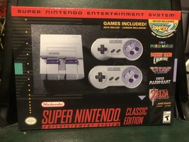 NEW super nintendo entertainment system classic edition CONSOLE . games ... - $128.70