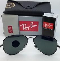 Polarized RAY-BAN Sunglasses RB 3429 SIGNET 002/58 55-19 135 Black Frame w/Green - $199.95