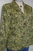 Green Floral Western Horse Show Hobby Halter Jacket Large Apparel Clothes  - $50.00