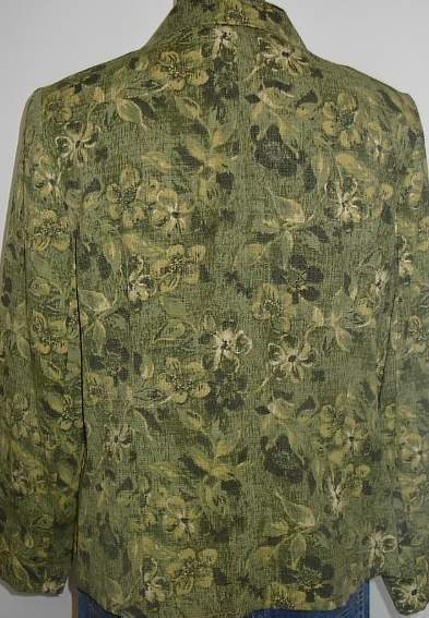 Green Floral Western Horse Show Hobby Halter Jacket Large Apparel Clothes