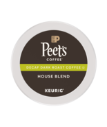 Peet's Coffee Decaf House Blend Coffee 22 to 88 Keurig K cups Pick Any Size - $21.99+