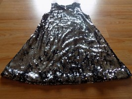 Girls Size 7-8 CWD Kids Fully Sequined Party Holiday Dress Black Charcoa... - $45.00