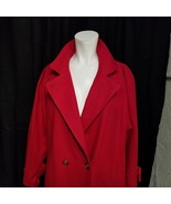 "Jofeld Andover Woman's Coat Wool Blend Size 38""  Full Length Red Button ... - $48.15"