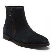 John Varvatos Star USA Men's Star M Zip Boot Distressed Suede Mineral Black - $168.12