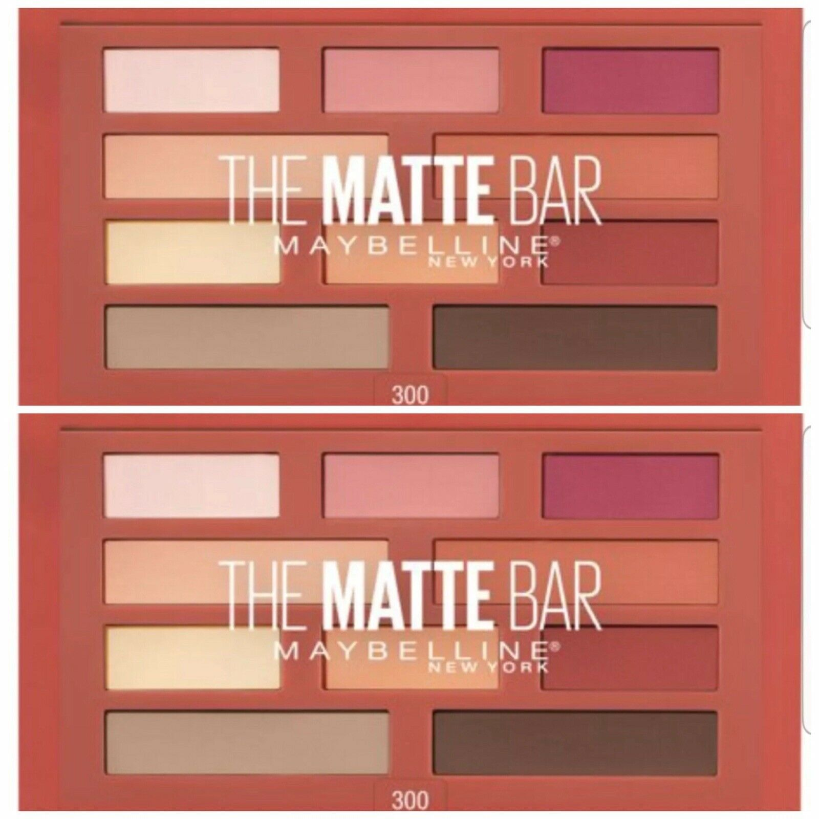 Primary image for 2 Maybelline The Matte Bar Eyeshadow Palette Makeup300 2 Ct ~NEW~