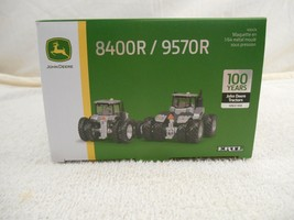 1/64 Limited Edition 100 Years Silver John Deere 8400R / 9570R  Set - $63.69