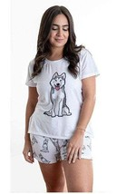 Dog Husky pajama set with shorts for women - $30.00