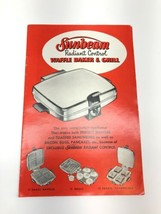 Sunbeam Radiant Control Waffle Baker & Grill Manual - $12.86