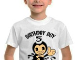 Bendy and the Ink Machine Birthday Shirt Family Matching T Shirts Custom Tee - ₹907.56 INR