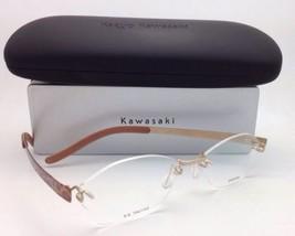 Kazuo Kawasaki Titan Brille Mp 704 / 11A3 157/52 Rahmenlose Gold/Leopard Fassung