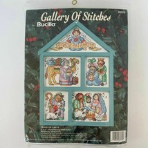 Bucilla Peace on Earth Cross Stitch Kit 33379 Christmas & Wood Hutch Fra... - $32.31