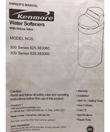 Kenmore Water Softener 300 Series 625.383060 Used Parts Free Shipping - $42.08