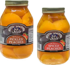 Amish Wedding Pickled Peach Halves and Spiced Peach Halves Variety 2-Pack - $33.25