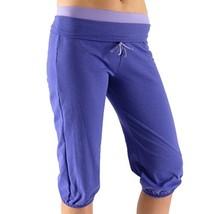 Alex + Abby Women's Plus-Size Folded Waist Capri 2X Purple Rain/African Violet
